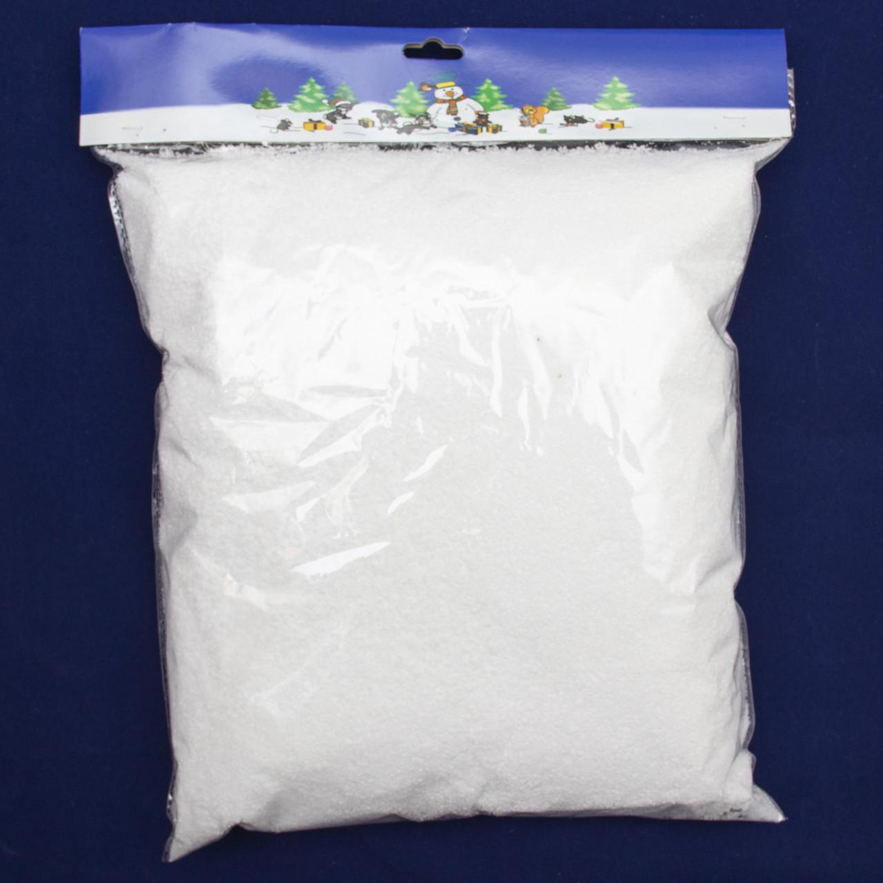 Штучний сніг, 1 упаковка, 80 г, білий, пенопласт (200015)