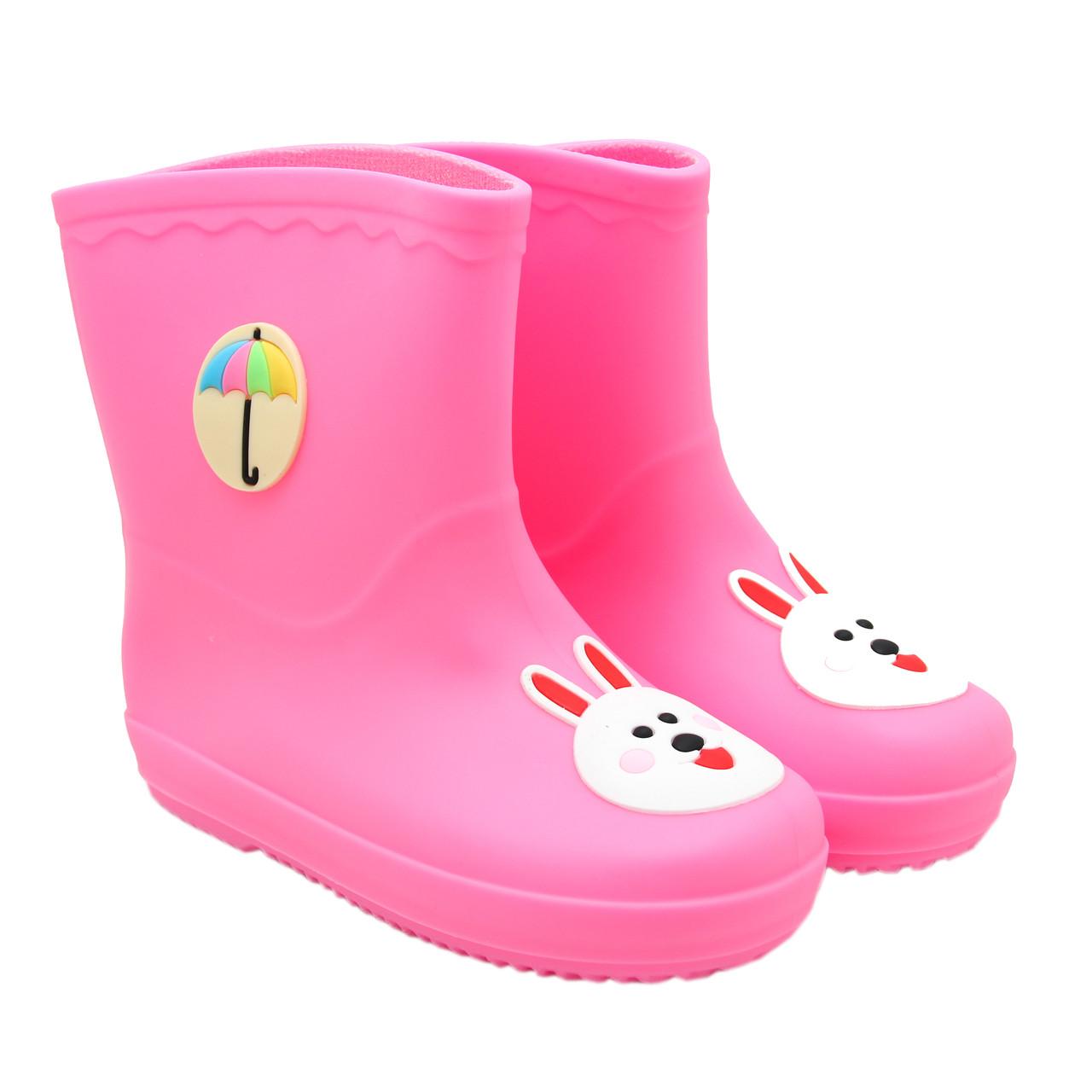 Детские резиновые сапоги, розовые, 15 см (513689-3)