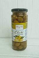 Оливки зеленые без косточки Helcom, 345гр (Польша)