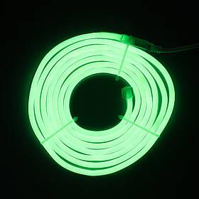 Светодиодная гирлянда неоновая гнущаяся трубка, 3 м, зеленый, IP20 (950040)