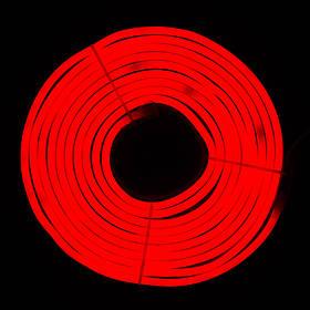Светодиодная гирлянда неоновая гнущаяся трубка, 5 м, красный, IP20 (950064)