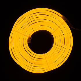 Светодиодная гирлянда неоновая гнущаяся трубка, 5 м, желтый, IP20 (950071)