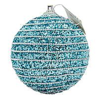 Елочное украшение в форме шара, голубой (661459-3), фото 1