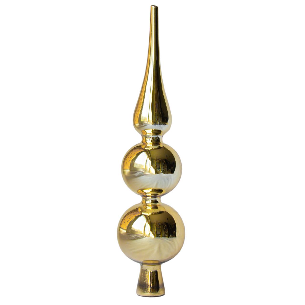 Верхушка для елки h30 * d7 см, стекло, золото глянец (390045-9)