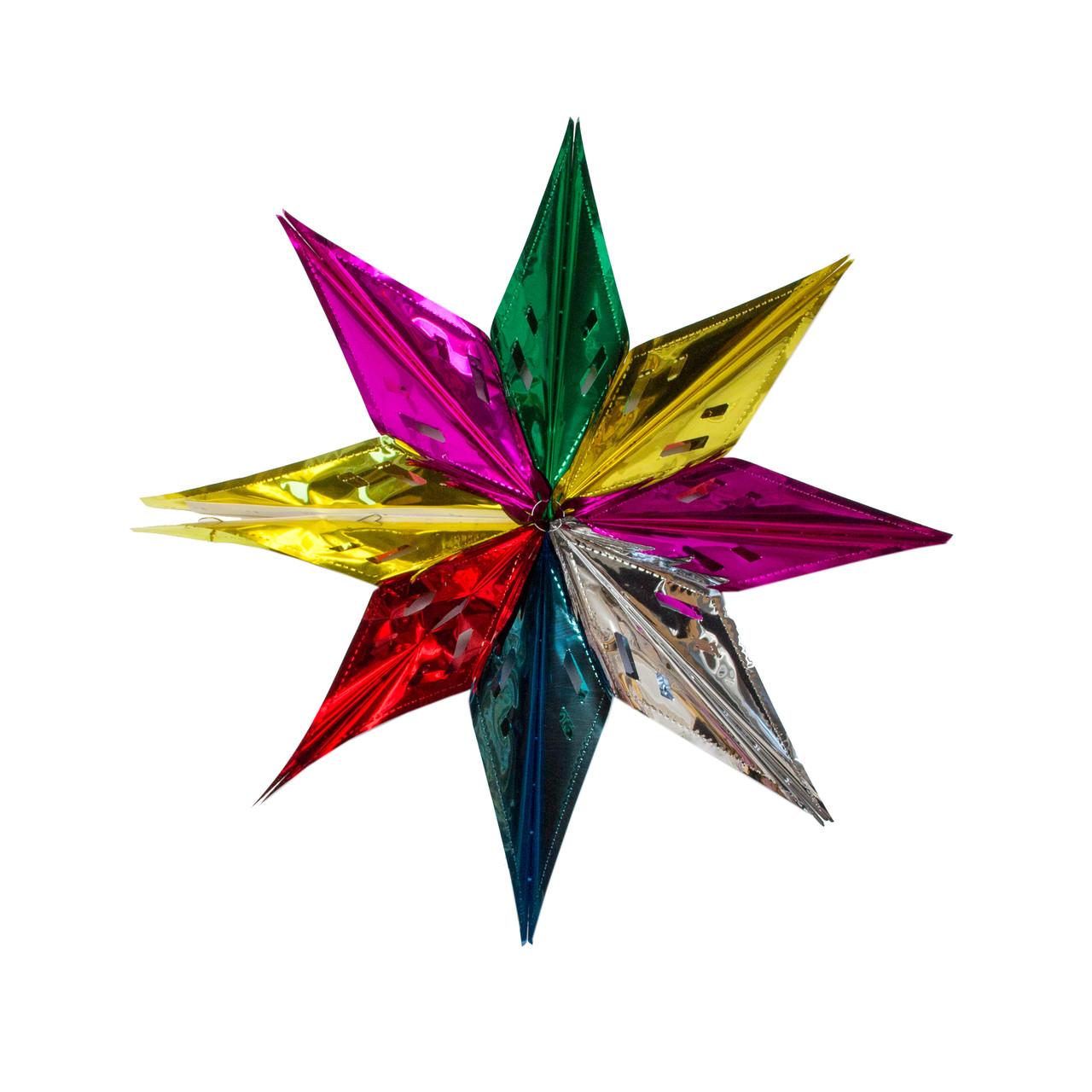 Новогоднее украшение - декорация звезда, 57см, разноцветный, пвх (610228)