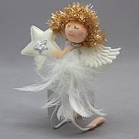 Елочное украшение - ангелочек, 15 см (220051)