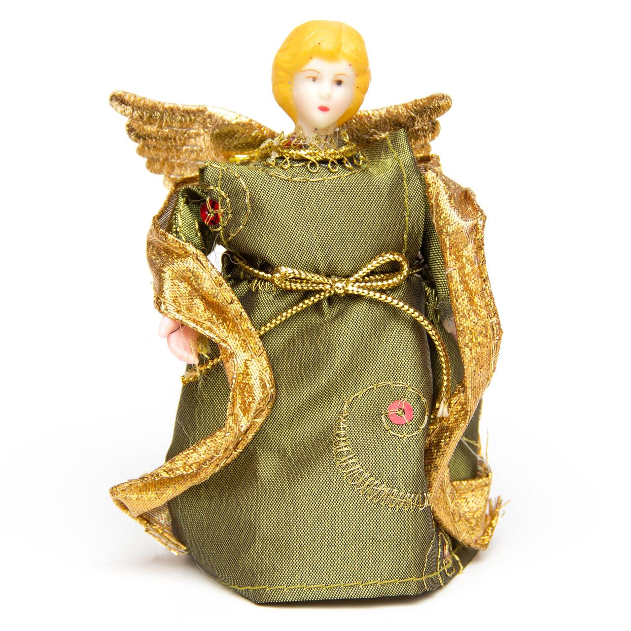 Новогодний сувенир - Фея, 11 см, зеленая (180370-1)