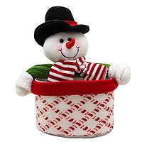 Снеговик с картонным ведерком(430444)