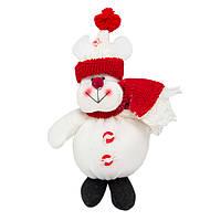 Мягкая игрушка сувенирная Снеговик, 13 см, (430055)