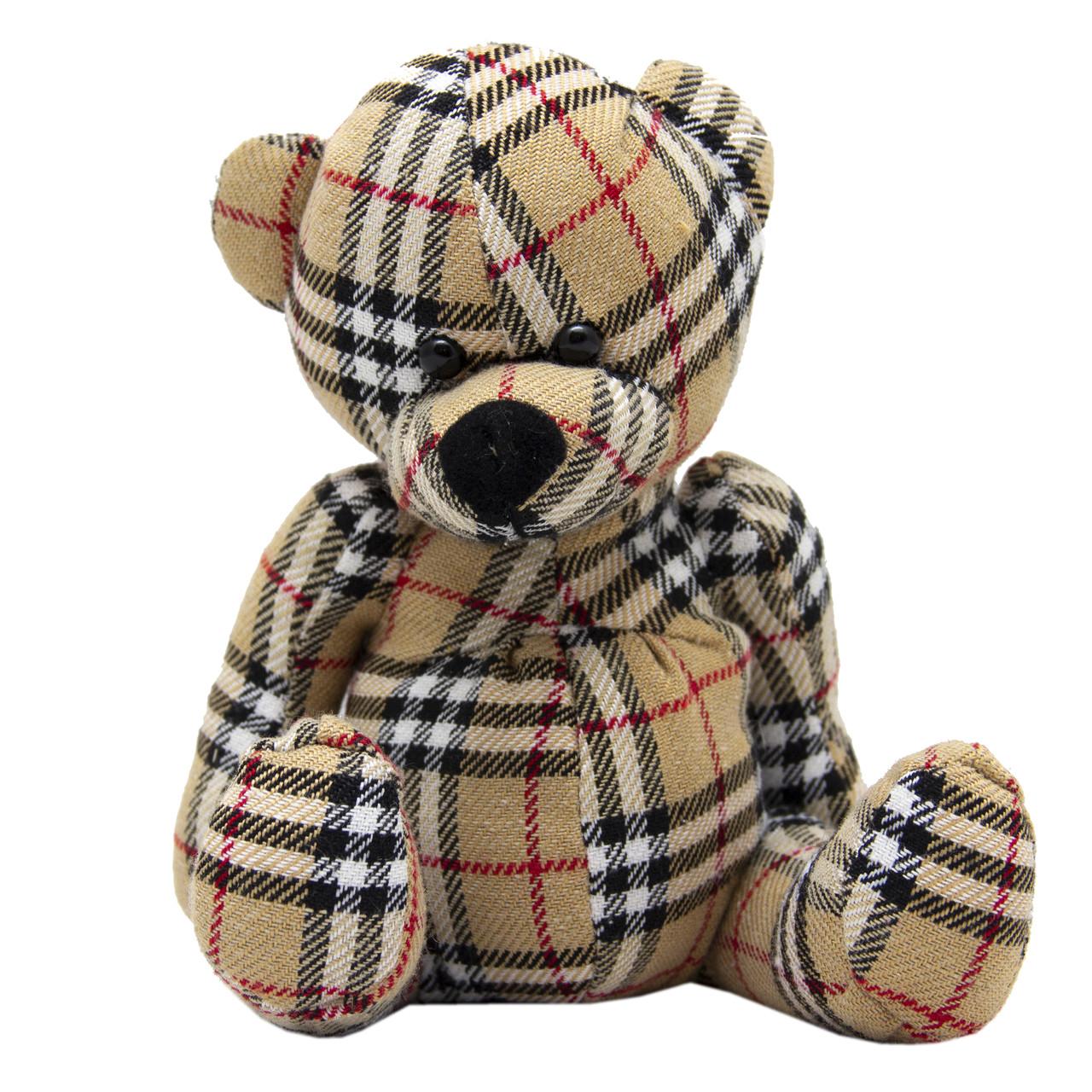 Мягкая игрушка - мишка, 15 см, бежевый, полиэстер (043113-6)