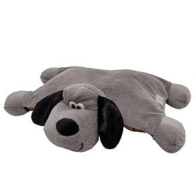 М'яка іграшка - песик-подушка, 48 см, сірий, поліестер (X1622545)