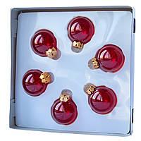 Набор елочных шаров 4*6 шт., стекло, красный (390588-3), фото 1