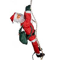 Светодиодная гирлянда-декорация Мягкий Дед Мороз, 90 см на лестнице (810115)