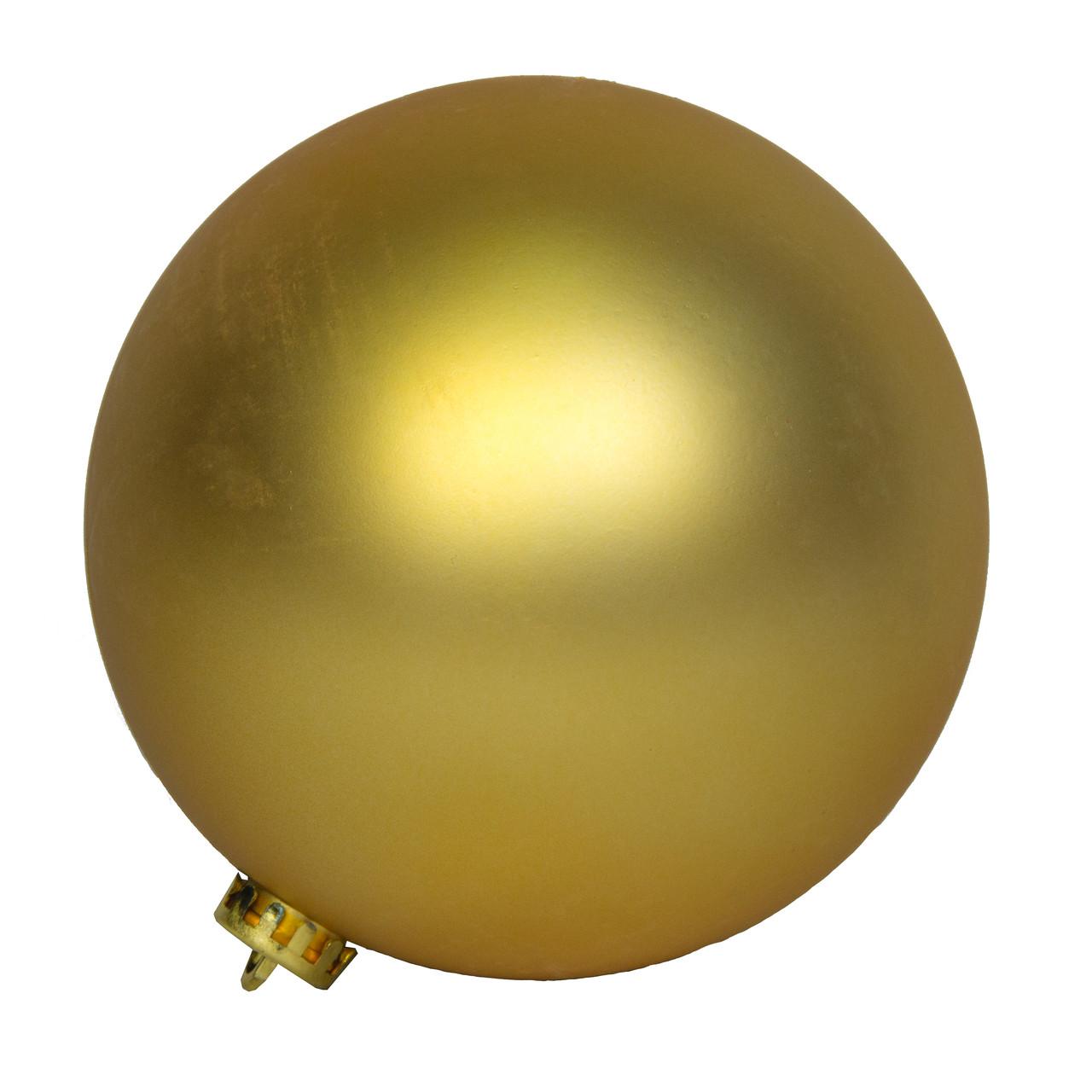 Шар пластиковый матовый d-15см, золото (033928)