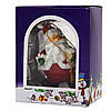 Новорічна ялинкова іграшка - фігурка Санта з подарунком, 9 см, червоний, полістоун (000180-9), фото 2