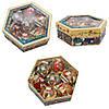 Набор елочных игрушек - шары Снеговик, 7 шт, D7,5 см, разноцветный с росписью, пенопласт (420025-3), фото 4