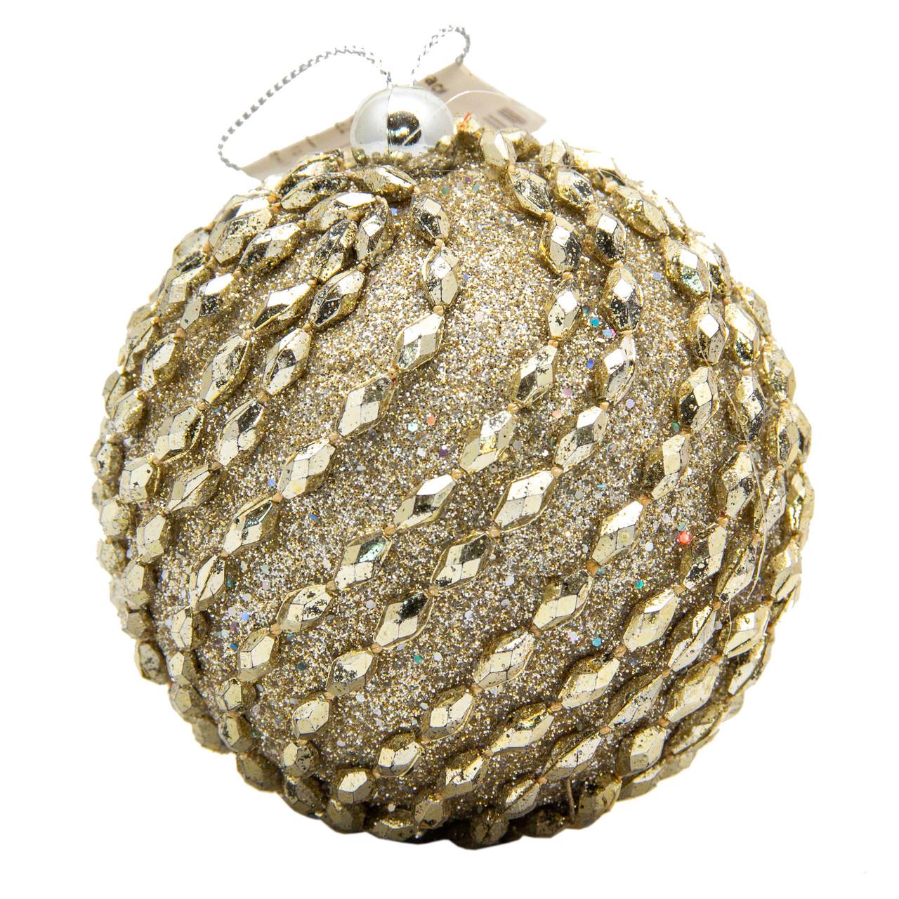 Елочное украшение в форме шара, золото (661473-2)