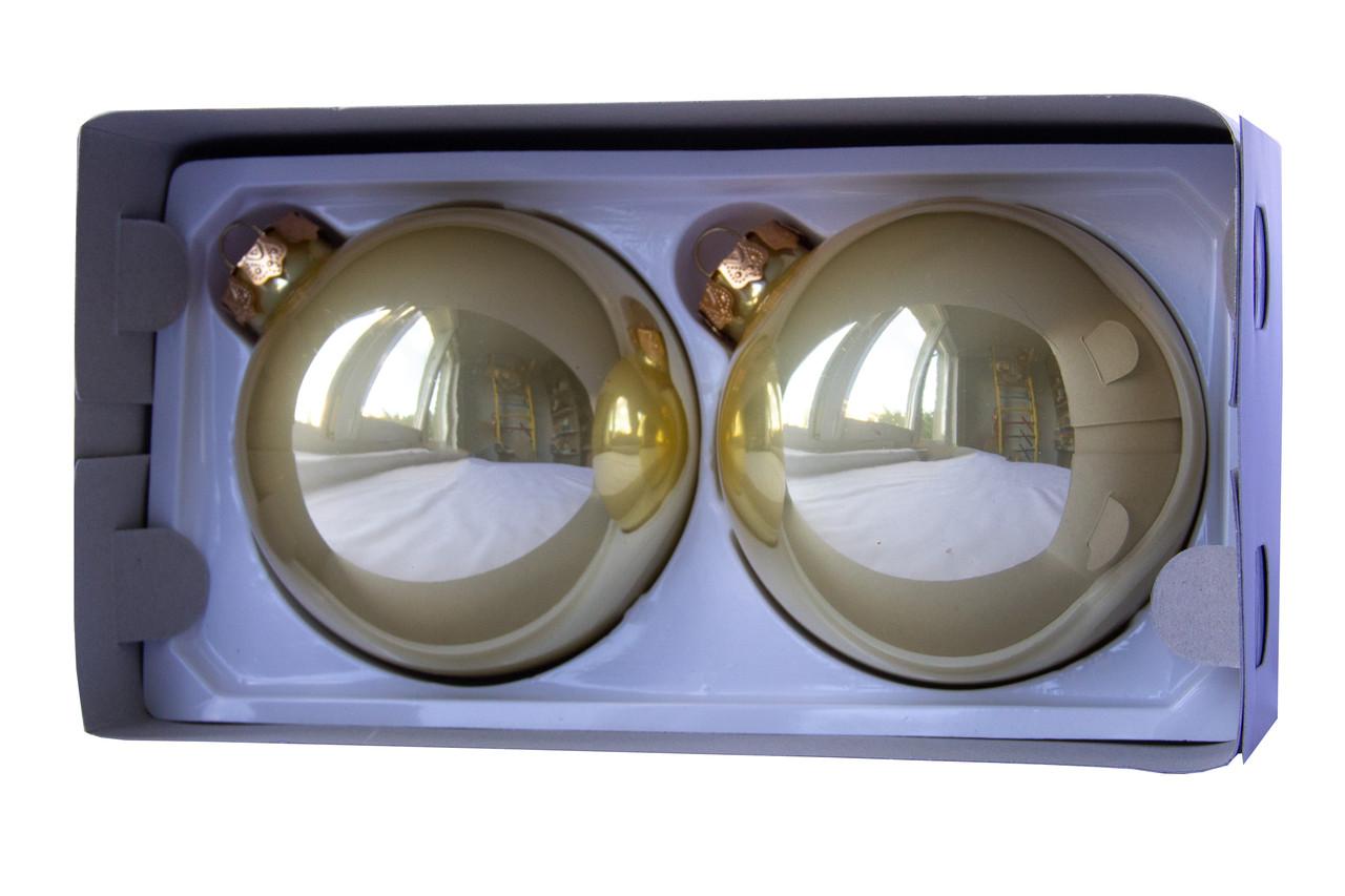 Набор елочных шаров 10*2шт., стекло, золото (390700-2)