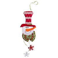 Подвесные фигурки из ткани, Снеговик, 20см (430468-3)