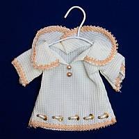 Елочное украшение из ткани, 8 см, платье (430093-3)