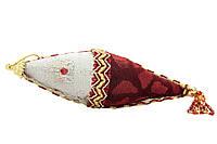Елочное украшение из ткани вышитые бисером, 10 см, сосулька (430246-1)