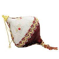 Елочное украшение из ткани вышитые бисером, 10 см, юла (430246-3)