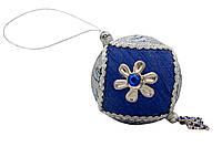 Елочное украшение из ткани вышитые бисером, 10 см, шар (430260-1)
