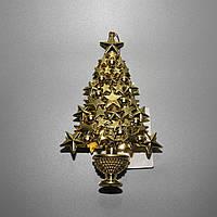 Елочное украшение - Елочка золотая, 16 см (000500)