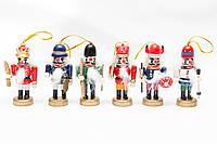 Набор елочных игрушек - солдатики, 6 шт, 20*8 см, разноцветный, дерево ( 060351)