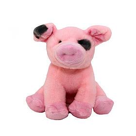 М'яка іграшка - порося, 21 см, рожевий, поліестер (164477/2)