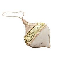 Елочное украшение из ткани с блестками, 10 см, юла (430147-3)