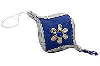Елочное украшение из ткани вышитые бисером, 10 см, юла (430260-4)