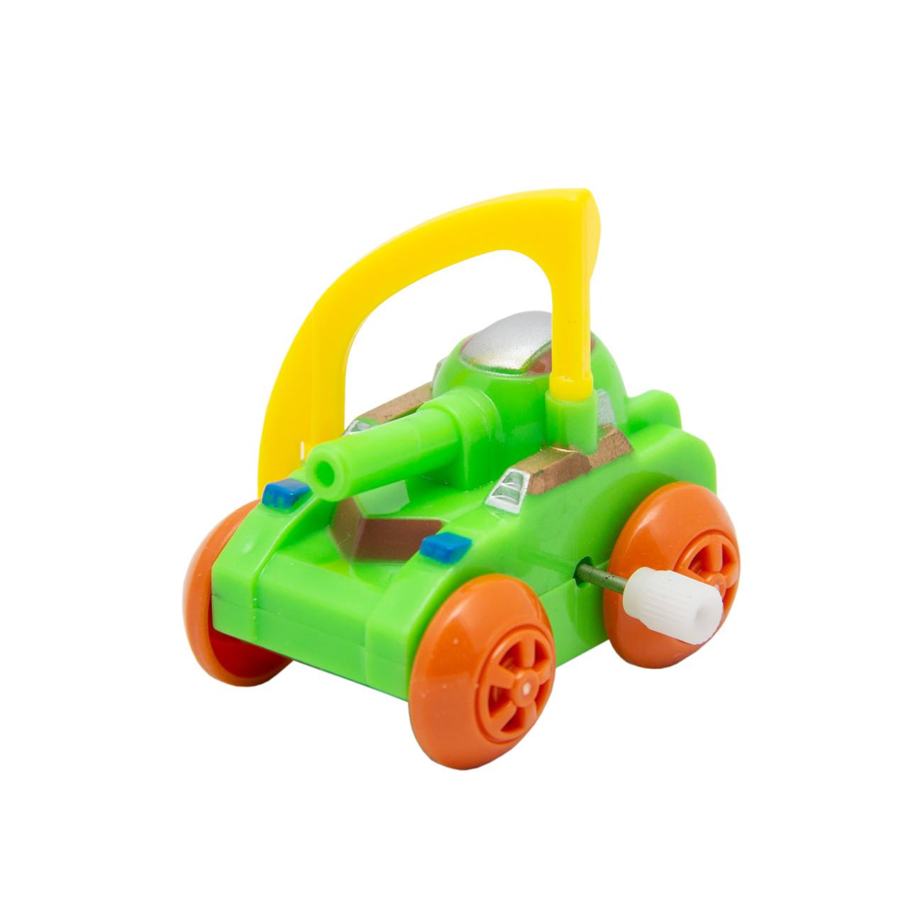 Танк заводной Aohua зеленый с желтым,4,5 см, пластик. (8074A-3-3)