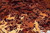 Метафан, бронзовый, кусочки в форме оленей, 1,5см, 20г (201074), фото 2