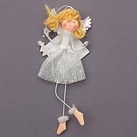 Елочное украшение - ангелочек, 15см (220945-1)