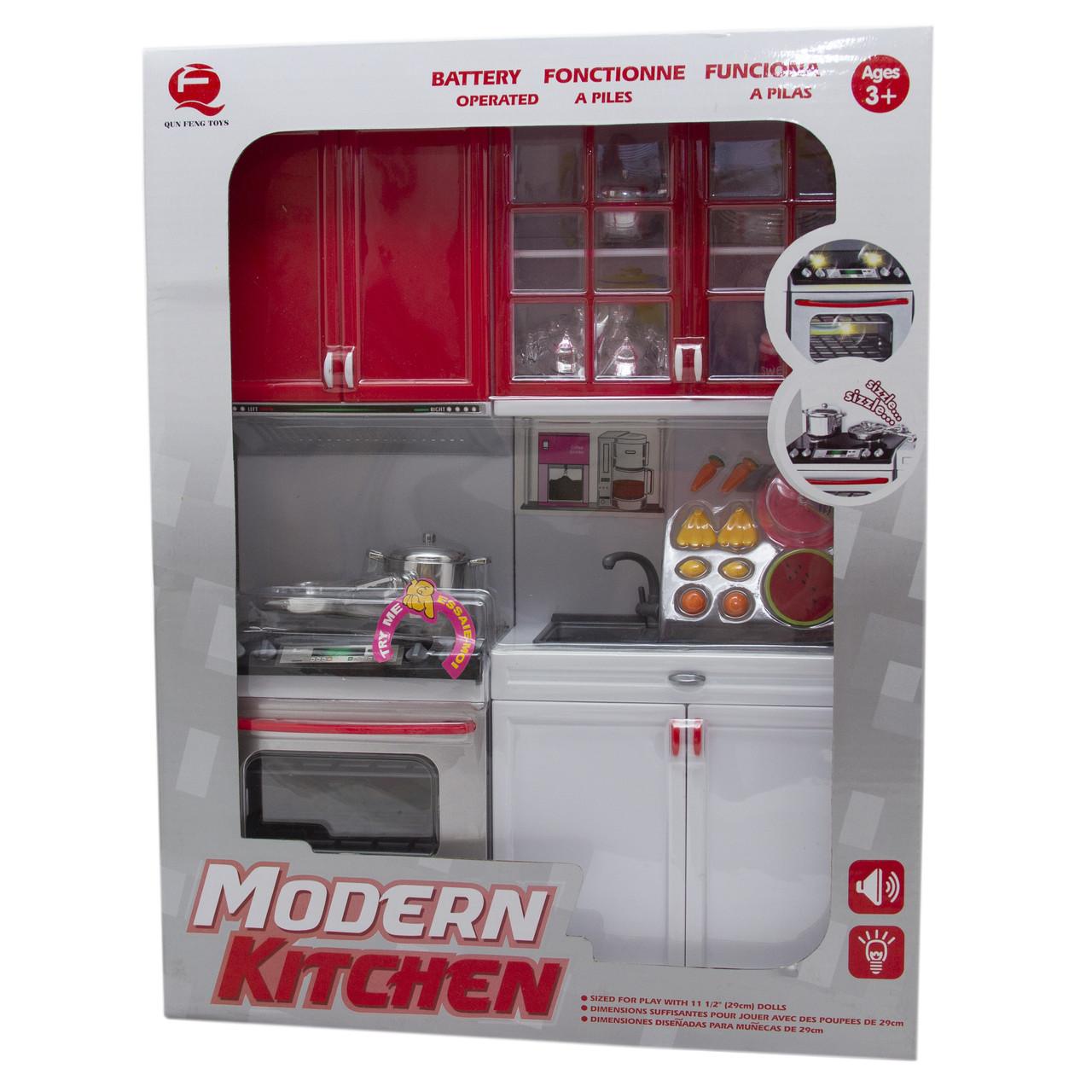"""Кукольная кухня """"Современная кухня""""-3, красная (26214)"""