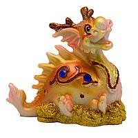 Фигурка сувенирная Дракон, на четырех лапах лежит, 7,7*4,8*8см (441259-1)
