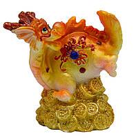 Фигурка сувенирная Дракон, задние лапы и хвост вверх, 6см (441532-3)