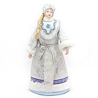 Новогодняя сувенирная фигурка Снегурочка, 28 см, белая, (180486-5)