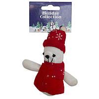 Мягкая игрушка сувенирная, красный медведь, 9см (000388-4)