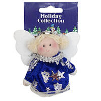 Мягкая игрушка сувенирная, синий ангел, 9см (000388-8)