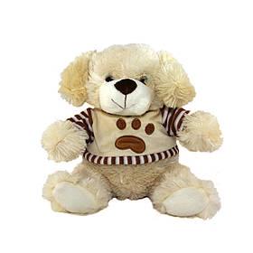 М'яка іграшка - собака світлі вуха, 24 см, бежевий, поліестер (427094/9.5-1)
