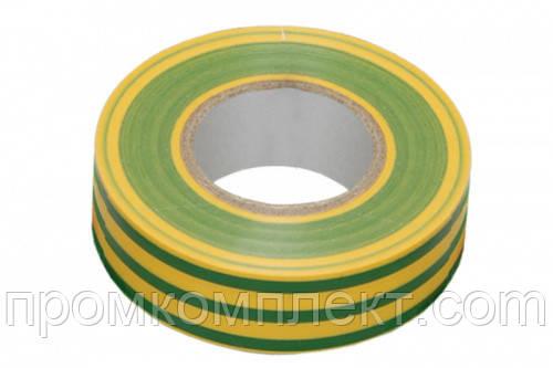 Ізолента 0,14ммх17ммх10м жовто-зелена (універсальна) (кратно упаковці — 10 шт.) APRO