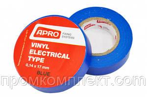 Ізолента 0,14ммх17ммх20м синя (універсальна) (кратно упаковці — 10 шт.) APRO