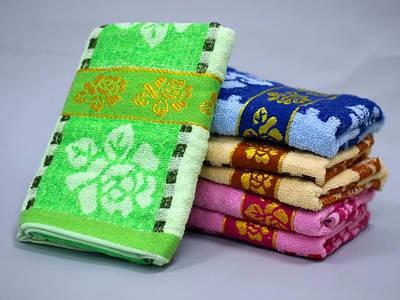 Махровое банное полотенце с вышивкой