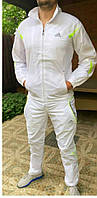 Белый спортивный костюм из плащевки Адидас р. M- XL
