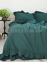 Комплект постельного белья СЕМЕЙНЫЙ LIMASSO DARK GREEN EXCLUSIVE зеленый