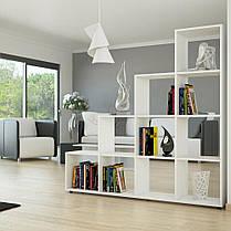 Разделитель комнаты, стеллаж для книг, игрушек и цветов, полка для книг, стеллаж для зонирования комнаты P0008, фото 3