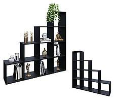Разделитель комнаты, стеллаж для книг, игрушек и цветов, полка для книг, стеллаж для зонирования комнаты P0008, фото 2