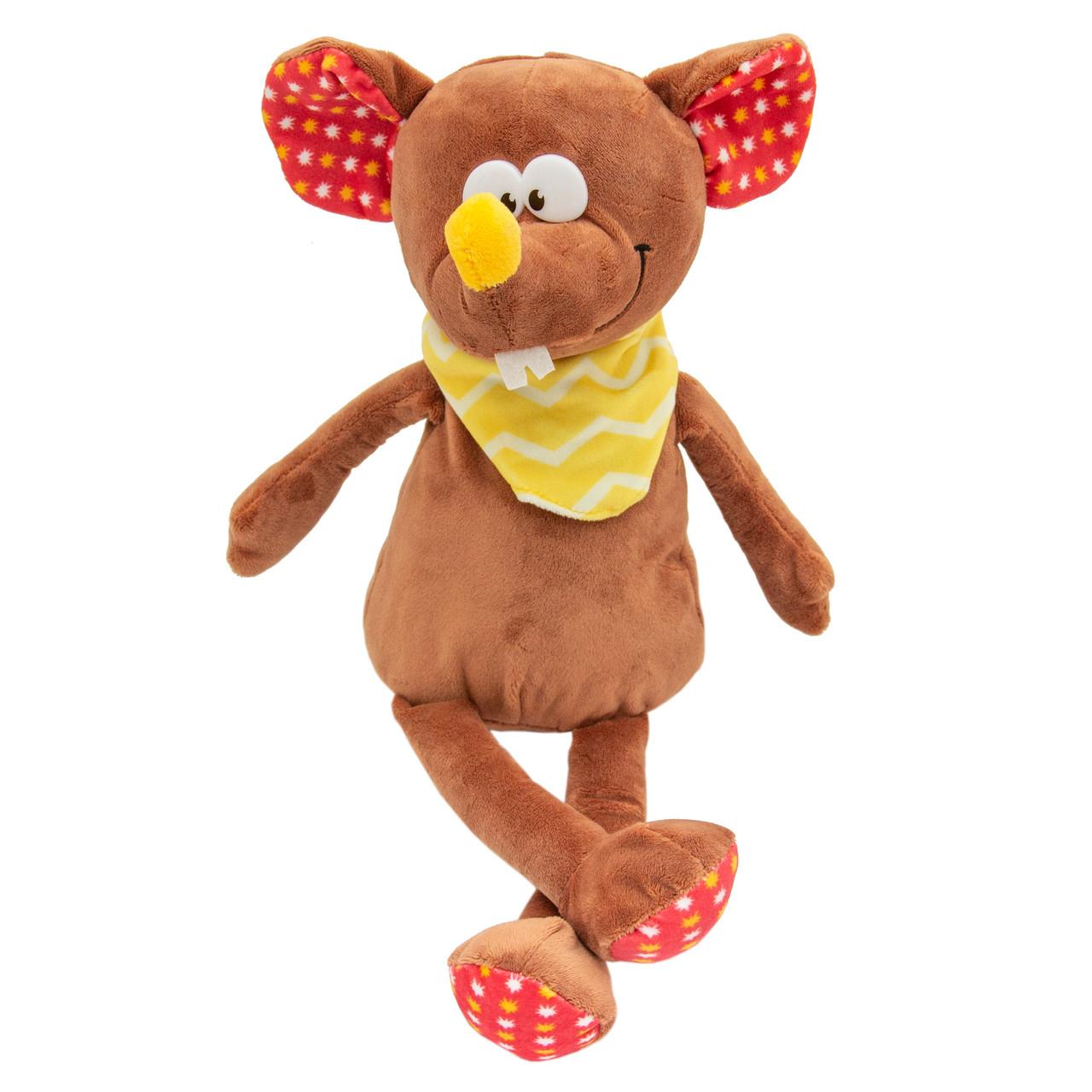 М'яка іграшка - щур з хустинкою, 26 см, коричневий, плюш (M1807526B-1)